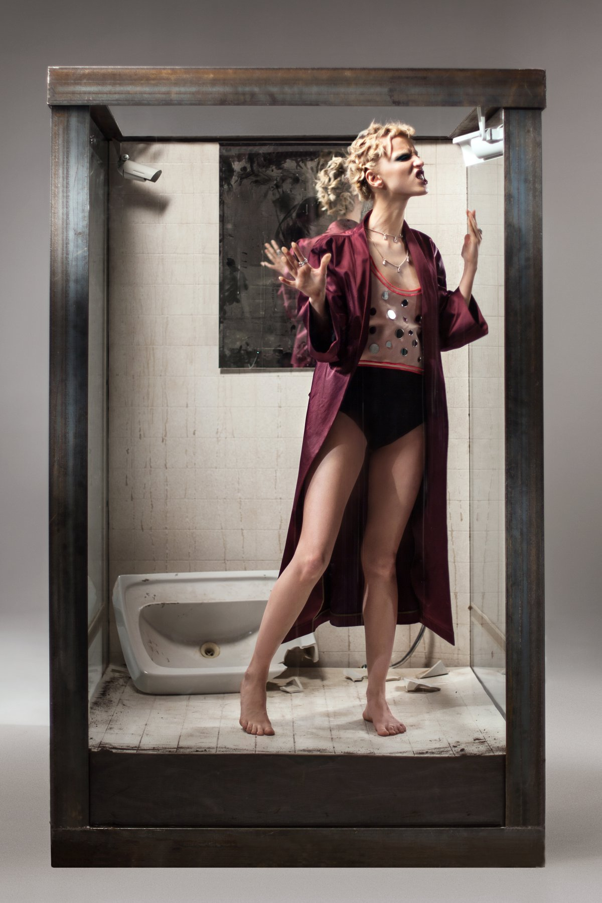 Coat: Ли-Лу, Top: WOS by Andrey Artyomov, Shorts: Dolce & Gabbana, Necklace: Uno de 50